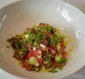 insalata condita con vinaigrette