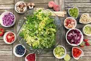 primo piano insalata leggera